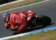 -perfect start to phillip island test for stoner and melandri