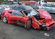 man crashes his ferrari f355 spider to avoid hitting a fox-316484