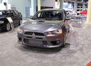 mitsubishi shows off the evo mr touring at the 2009 south florida international auto show-329481