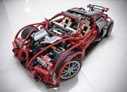 bugatti veyron built from lego blocks-345065