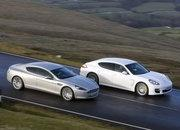 four-door european saloons aston martin rapide vs. porsche panamera-368572