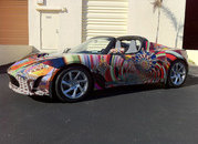 tesla roadster art car by laurence gartel-385662