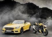 mercedes slk 55 amg streetfighter yellow-428526
