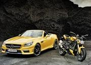 mercedes slk 55 amg streetfighter yellow-428523