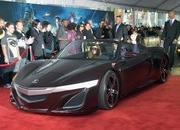 video robert downey jr. attends avengers premiere in an acura nsx roadster-449502