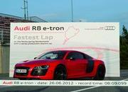 audi r8 e-tron becomes fastest electric vehicle around the nurburgring-462966