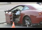 horrific russian crash splits ferrari 612 scaglietti in two 4