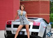 ashley models with a lamborghini gallardo and bmw m3 sport pack-474619