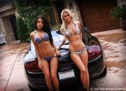our carwash dreams come to life with two babes cleaning a ferrari 430 scuderia and a bentley continental gt-478583