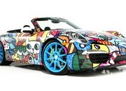 porsche 911 cabriolet art car by romero britto-485709